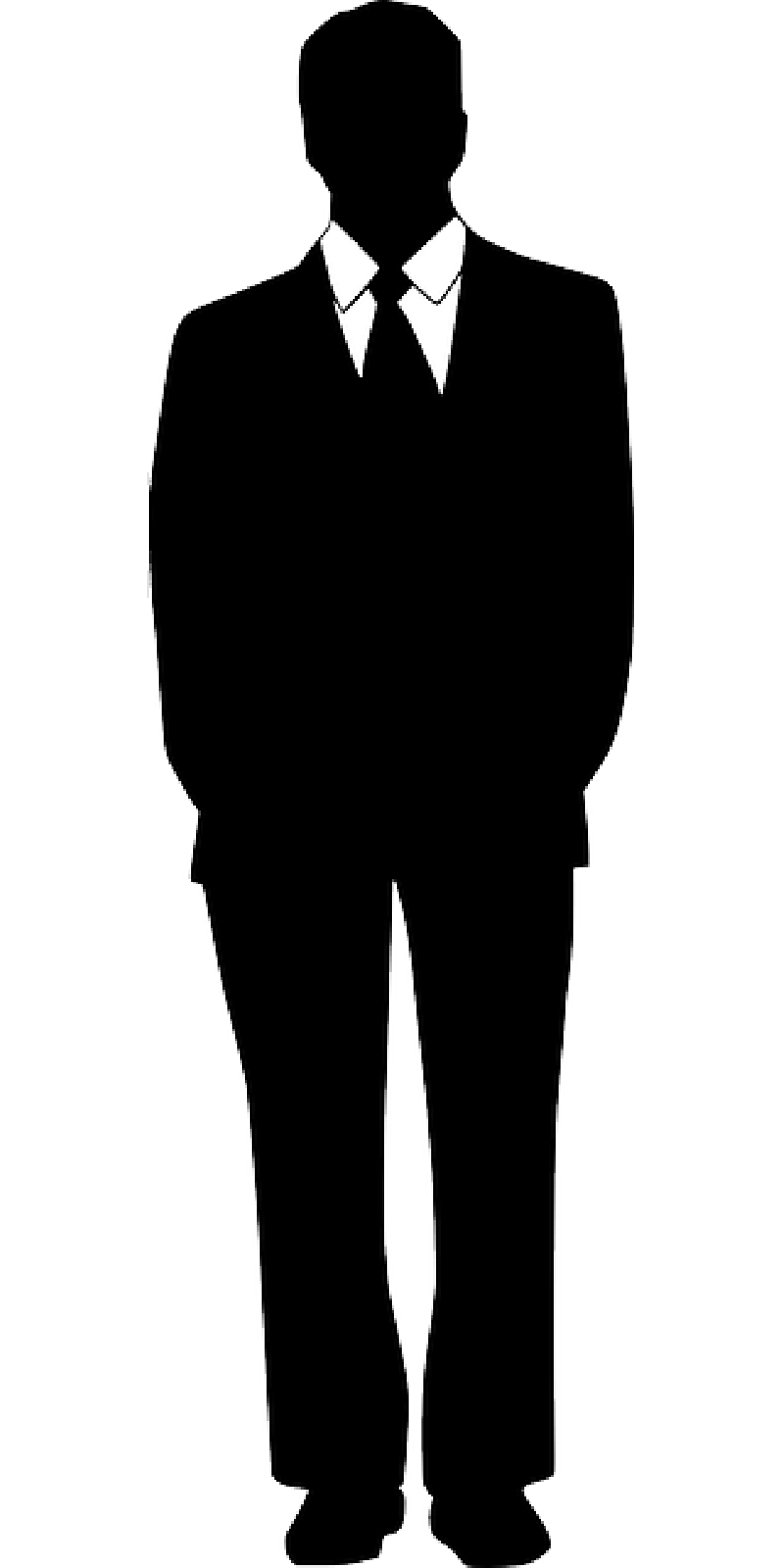 Pics Photos   Silhouette Of A Man In Suit And Tie Presentation Clipart
