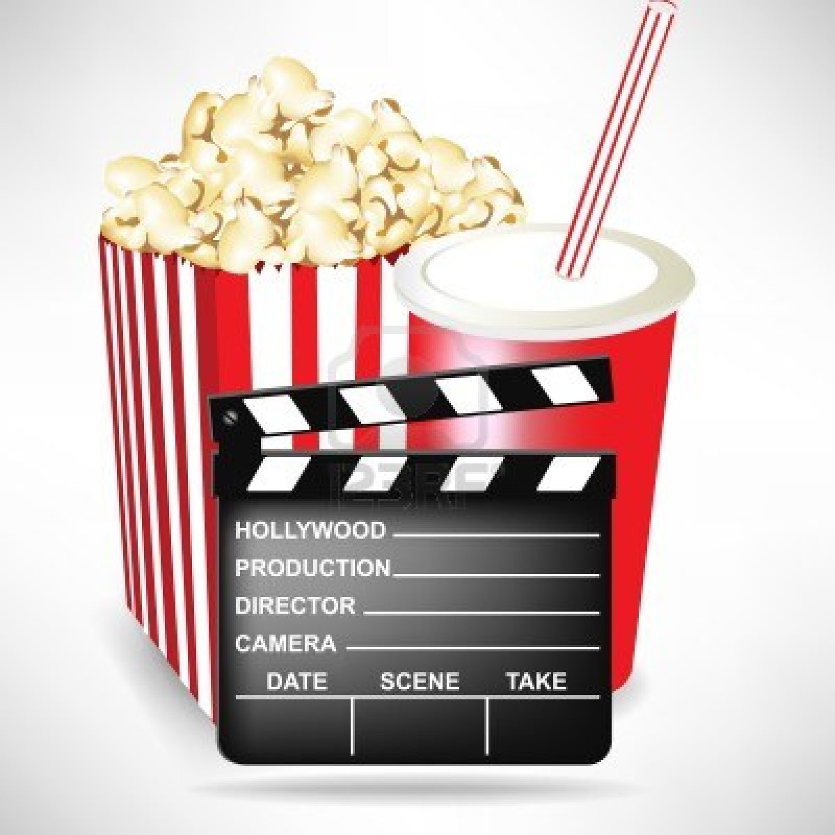 Popcorn And D Glasses Download Royalty Free Vector File Eps Popcorn