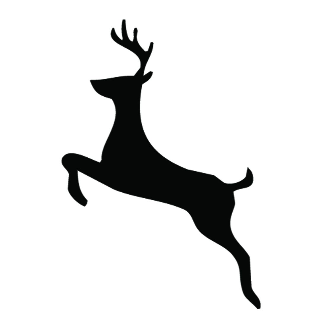 Reindeer Silhouette Stencil 02 Free Stencil Gallery