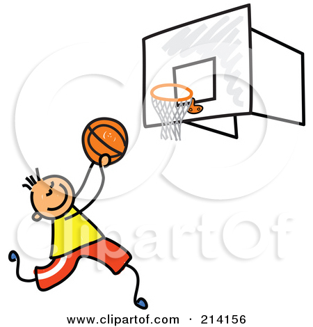 Royalty Free  Rf  Clipart Illustration Of A Male Basketball Player