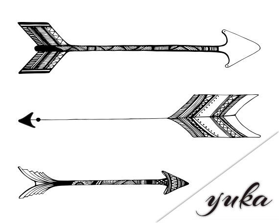 Tribal Arrow Clipart - Clipart Suggest