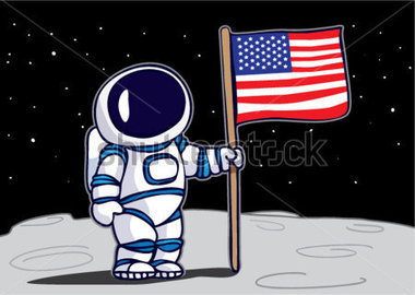 Astronaut And Moon Clipart - Clipart Suggest