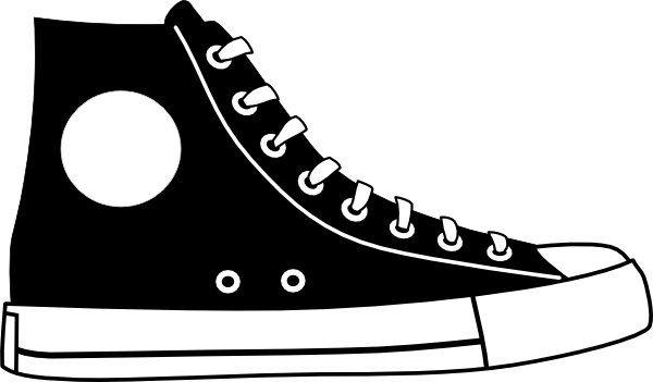 Black Hightop Shoe Clip Art At Clker Com   Vector Clip Art Online