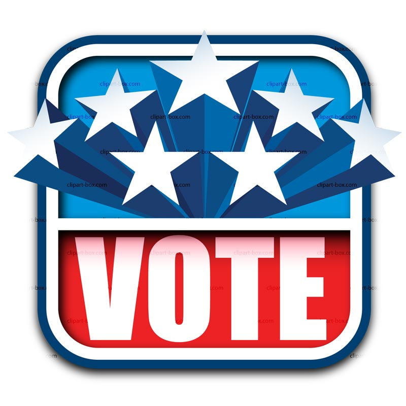 Clipart Vote Sign   Royalty Free Vector Design