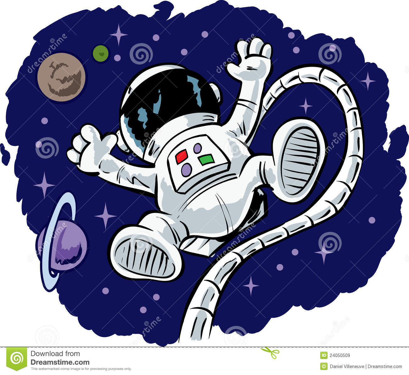 Cute Floating Astronaut Royalty Free Stock Images   Image  24050509