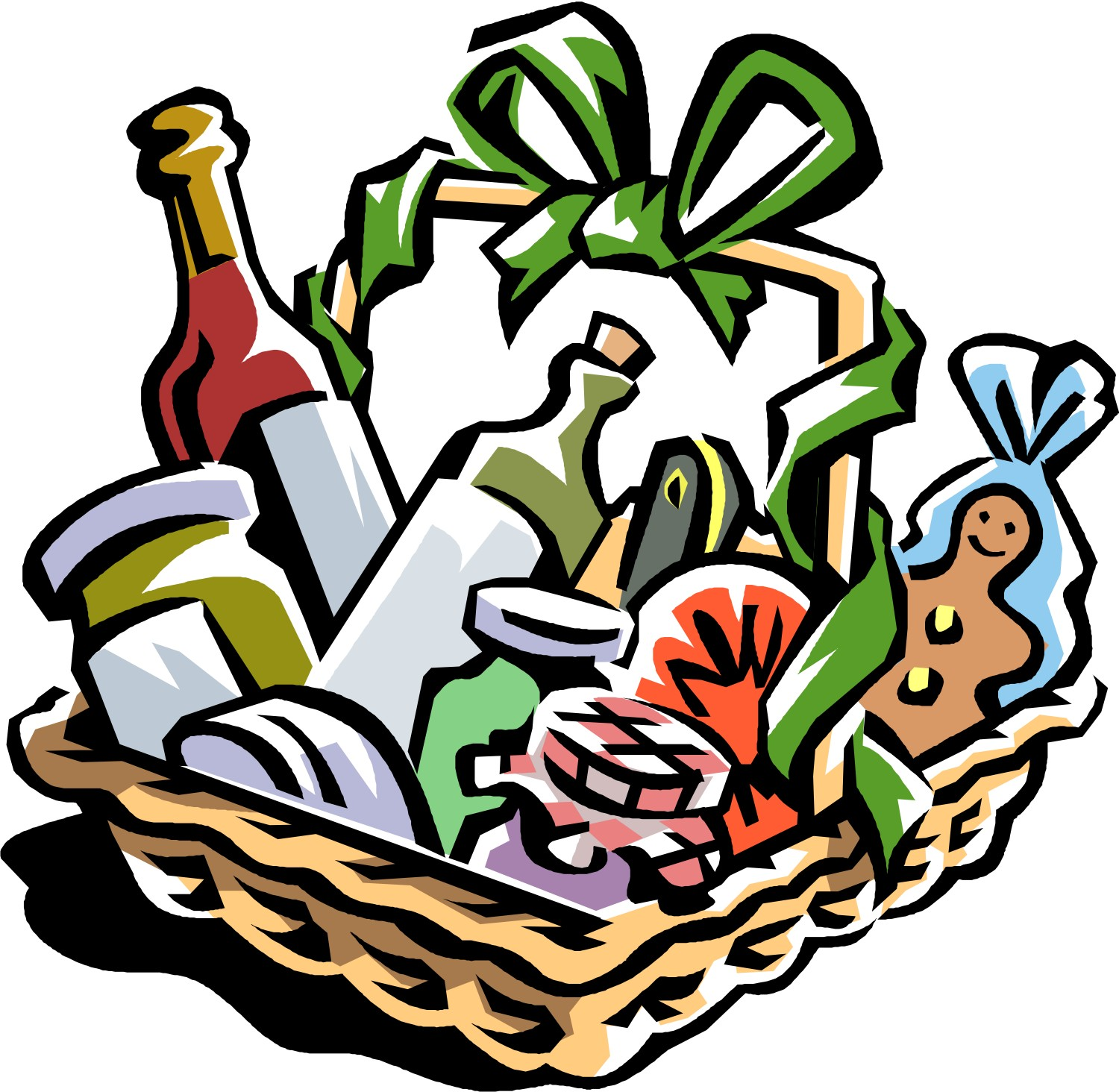 Clip Art for Auction Gift Baskets
