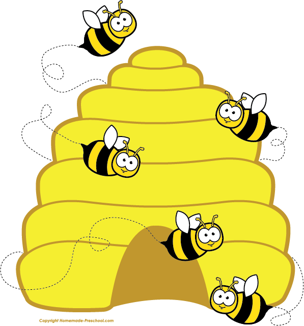 Honey Bee Hive Clip Art