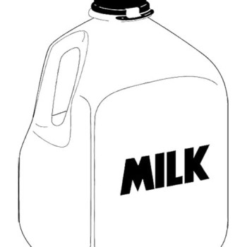 Milk Jug Clipart Dairy Coloring Pages 16 Jpg