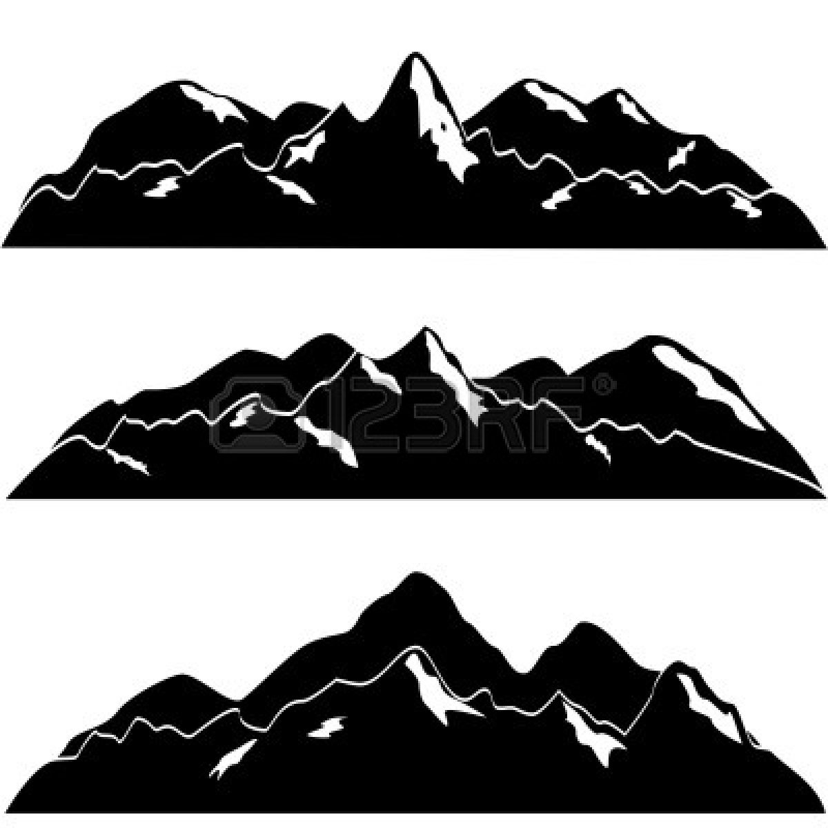 Mountain silhouette clipart clipart suggest Drawing images free download