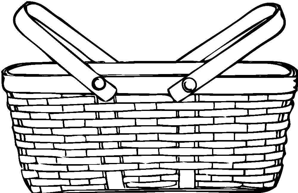 Empty Basket Black Clipart - Clipart Kid