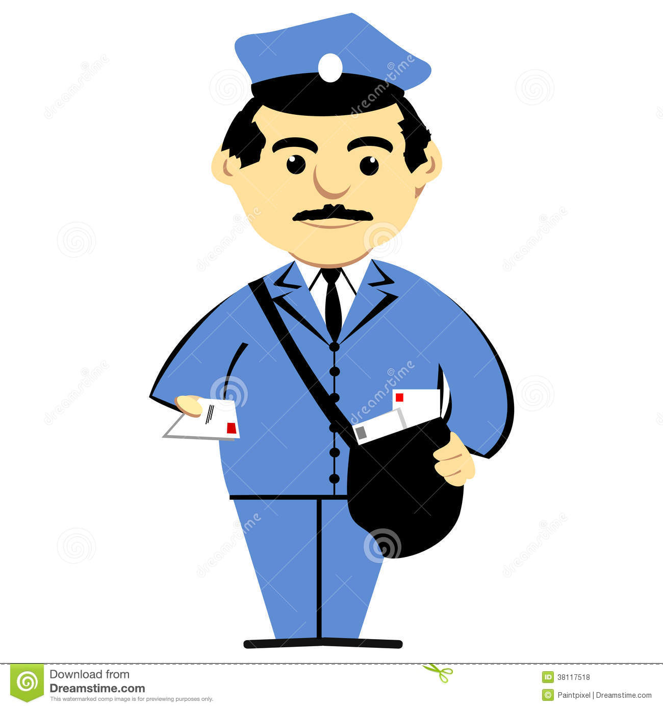 Postman With Mailbag Royalty Free Stock Photos   Image  38117518