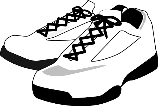Running Shoes Clip Art At Clker Com   Vector Clip Art Online Royalty