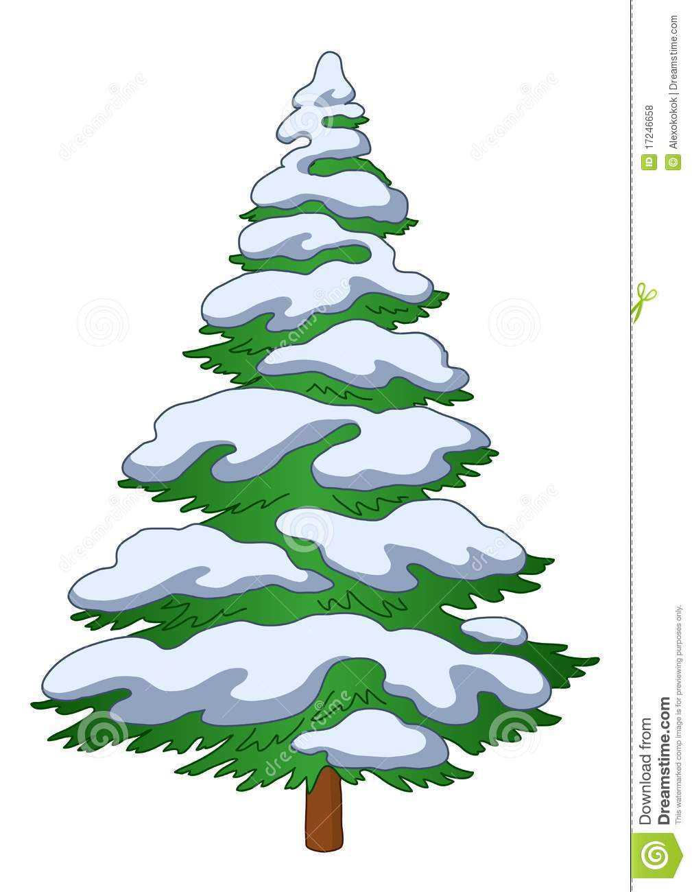 Pine Tree With Snow Clipart - Clipart Kid