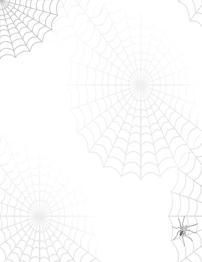 Spider Web Page   Http   Www Wpclipart Com Page Frames Holiday