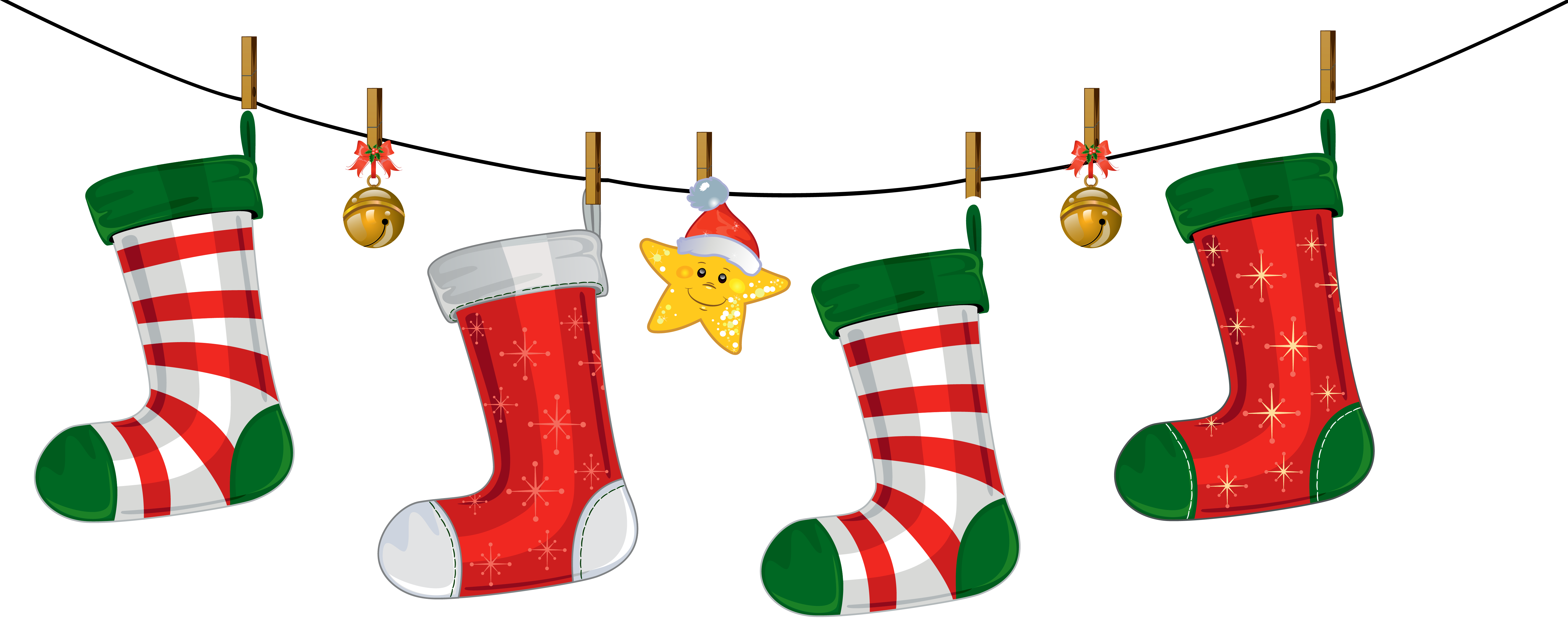 Transparent Christmas Stockings Decoration Png Clipart    Japoland