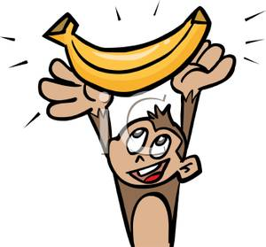 Ucurux  Clip Art Monkey With Banana