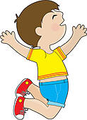 Young Boy Jumping For Joy Stock Illustrations   Gograph