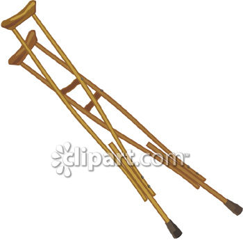 0060 0807 0719 3012 Wooden Crutches Clipart Image Jpg