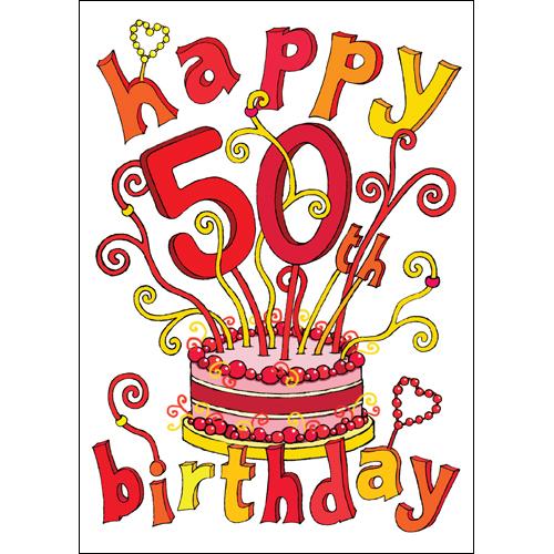 Happy 50th Birthday Clipart - Clipart Kid