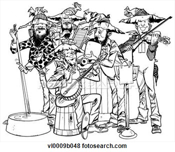 Clip Art   Hillbilly Band  Fotosearch   Search Clipart Illustration