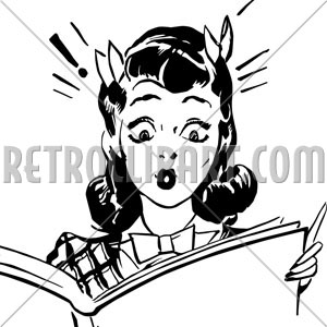 Clip Art Woman Reading Forbidden Pictures