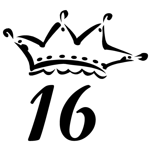 Clipart 10791 Fancy Crown Sixteen Fancy Crown Sixteen Mugs T Shirts