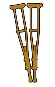 Free Clip Art   Medical Clip Art Images   Graphics   Crutches Jpg