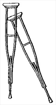 Free Crutches Clipart   Free Clipart Graphics Images And Photos