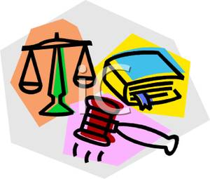 Law Clipart A Law Book With Scales And A Gavel Royalty Free Clipart