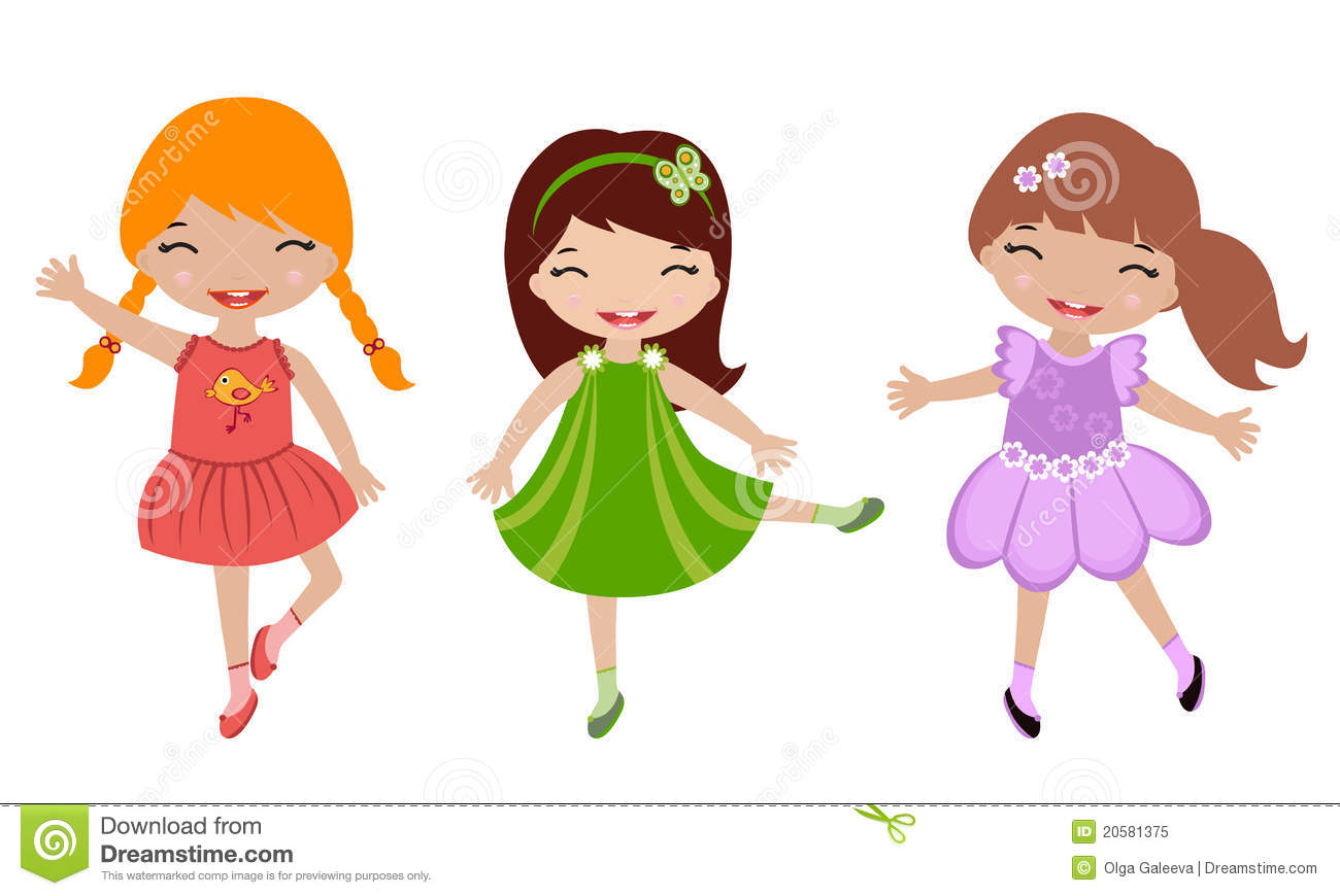 Little Girl Dancing Clipart