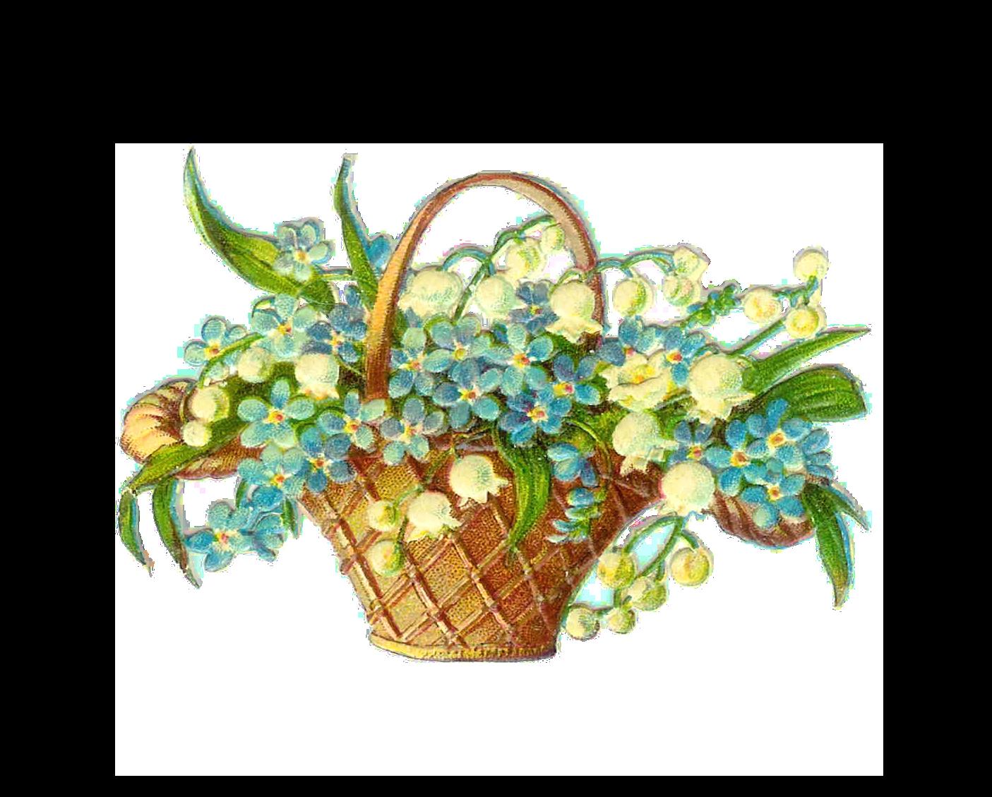 Clipart Flower Baskets : Flower basket clipart suggest