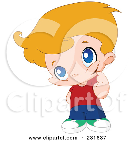 Royalty Free  Rf  Clipart Illustration Of A Cute Little Boy In Thought