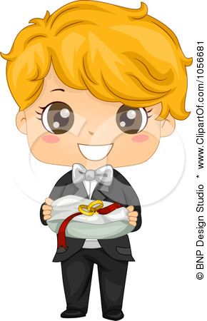 Royalty Free Vector Clip Art Illustration Of A Cute Ring Bearer Boy By
