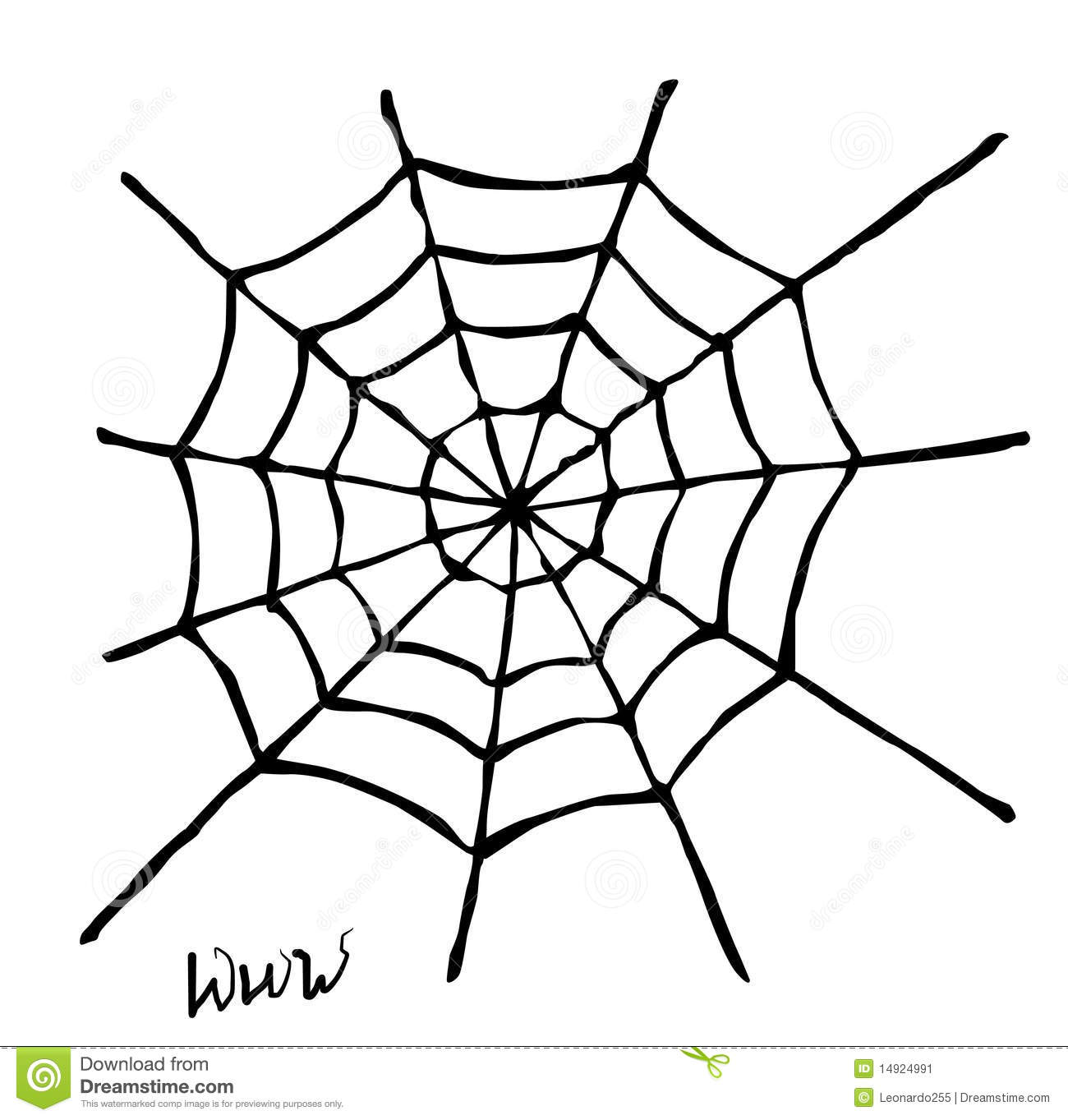 Spider Web On White Background Mr No Pr No 3 761 6