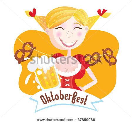 Oktoberfest Girl Clipart - Clipart Kid