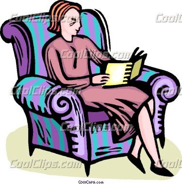 Woman Reading Clipart Woman Reading A Book Coolclips Vc066324 Jpg