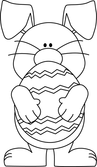 Easter Black And White Clipart - Clipart Kid