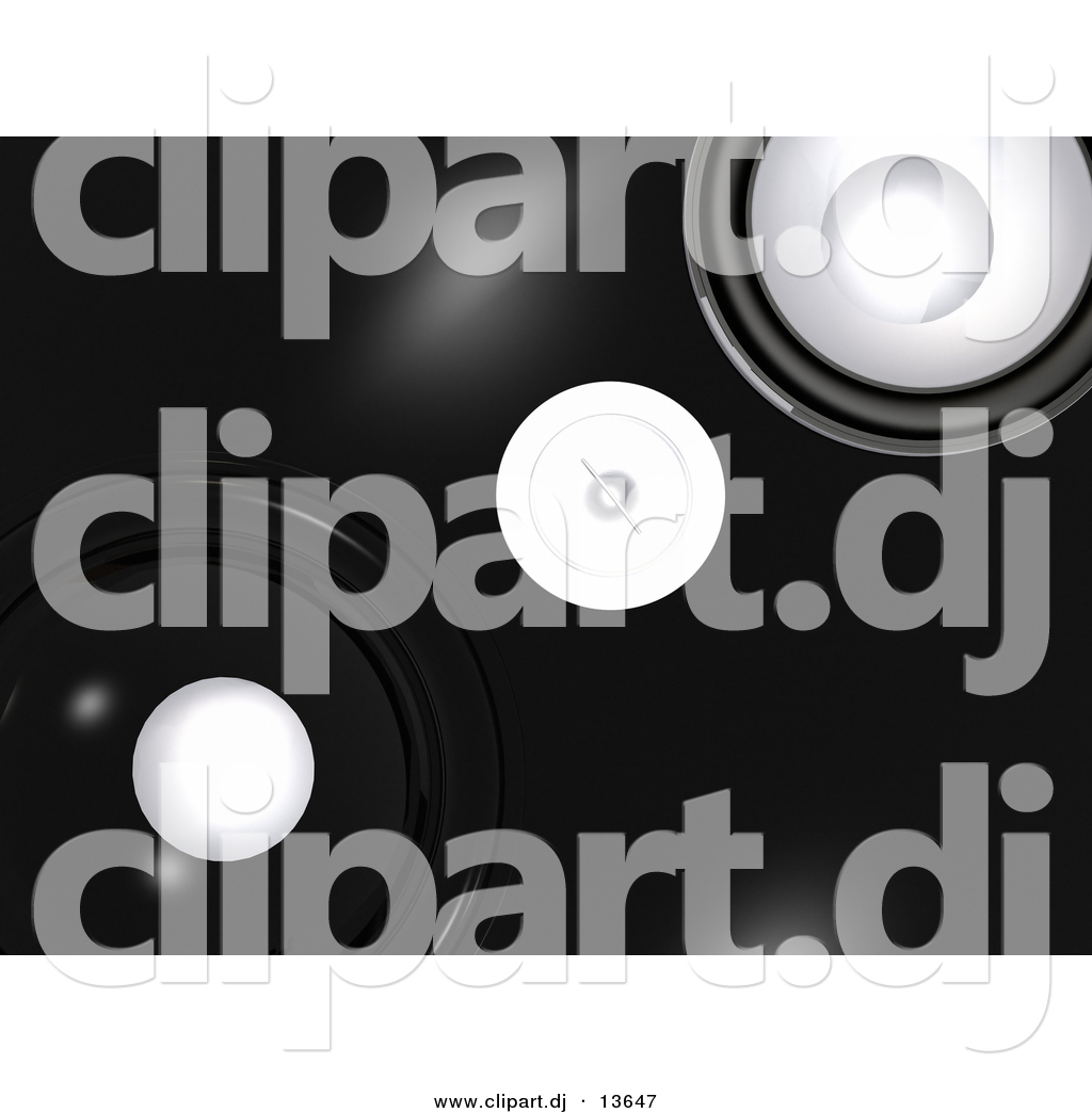 Clipart Of A Black Speaker Background