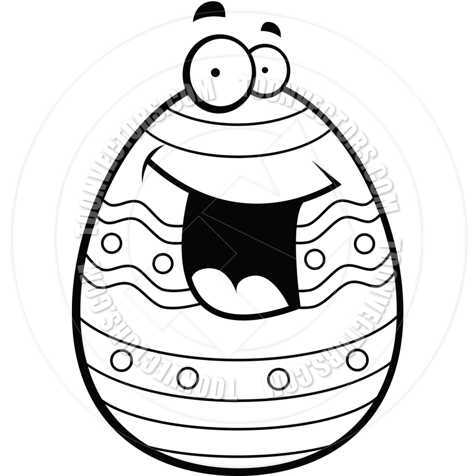 Easter Bunny With Eggs Clipart Black And White Black And White...