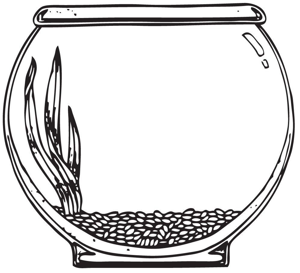 Clip Art Fish Bowl Clipart fishbowl clipart kid fish bowl coloring page free pages