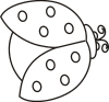 Ladybug Outline For Address Labels Or Rubber Stamps