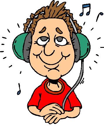 Escuchar Musical Clip Art