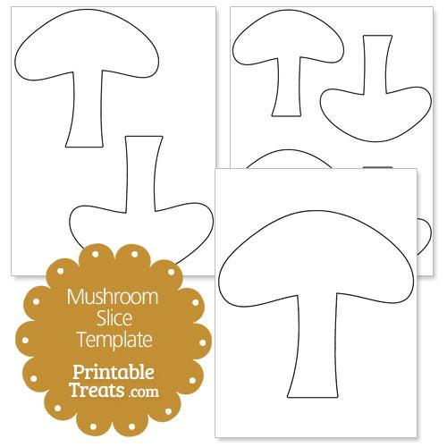 Mushroom Slice Shape Template A Page With Two Medium Sized Mushroom
