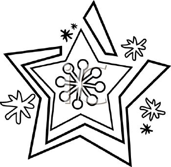 Snowflake In Black And White In A Vector Clip Art Illustration Clipart