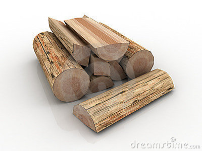 Stack Of Firewood Clipart Background From Round Logs Stock Image
