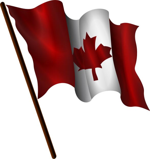 Waving Canadian Flag  It S Shape Was Inspired By Open Clip