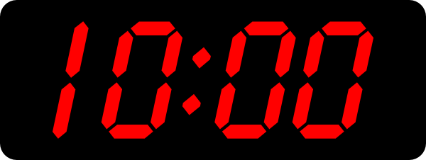 Image result for 10:00 am digital clock transparent image