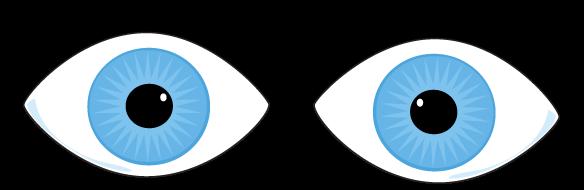 Blue Eyes Clip Art Image   Pair Of Blue Eyes With Eyelashes