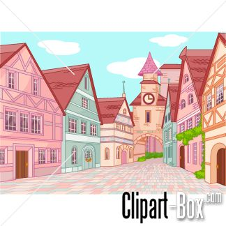 Clipart Old Town Street   Cliparts   Pinterest