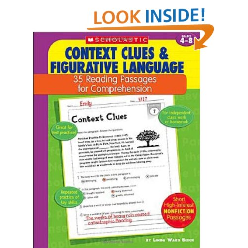 Context Clues First Grade Worksheets